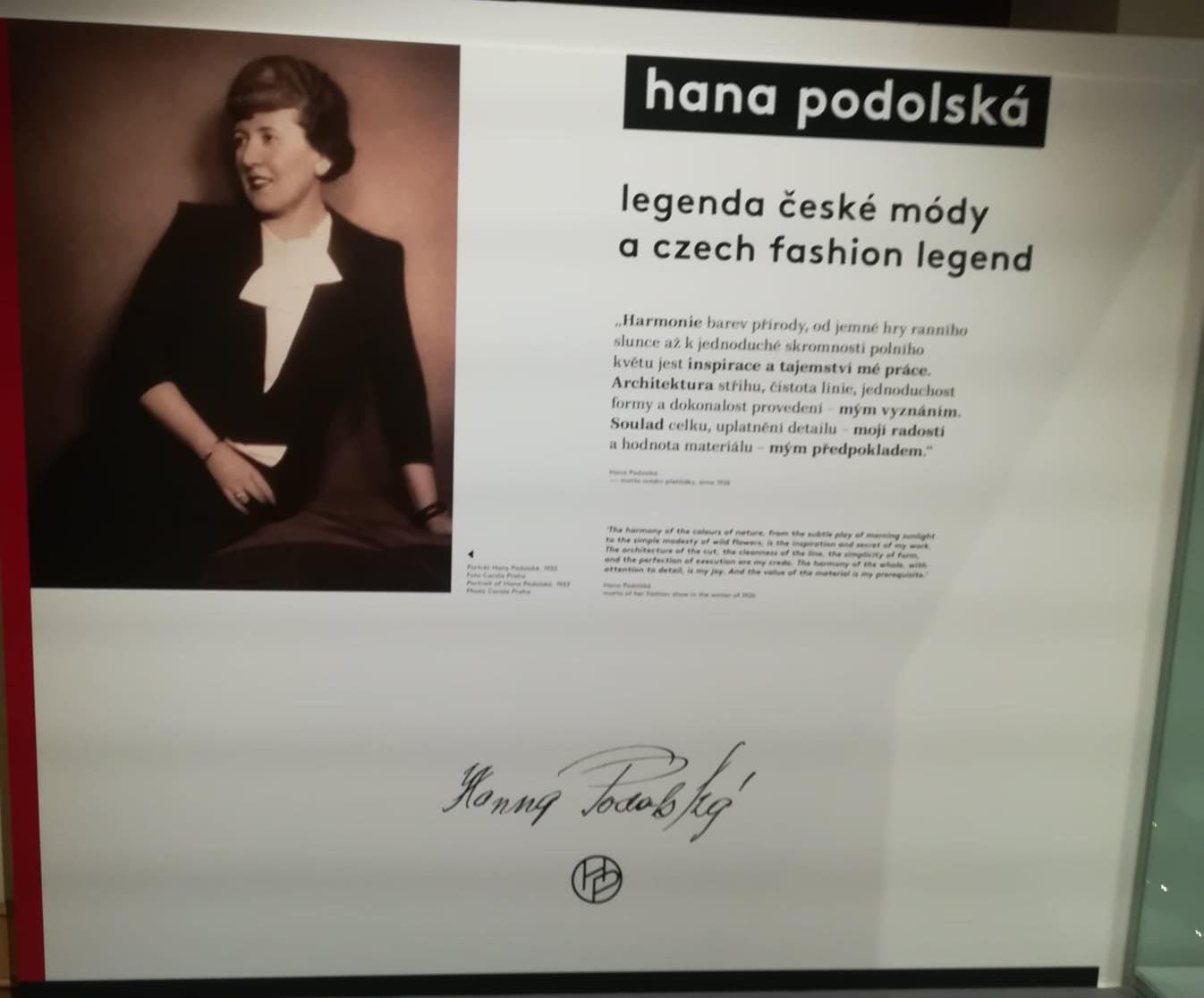 legenda české módy Hana Podolská